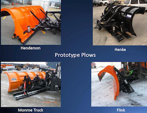 Ice breaking plow options