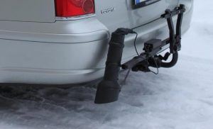 Mobile sensor attached to rear car bumper