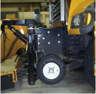 snowplow-mounted road friction measurement system