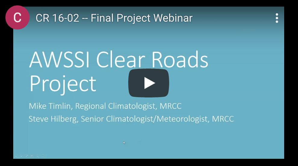 Clear Roads - AWSSI Enhancements webinar