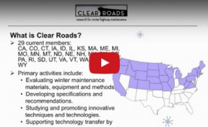 Clear Roads Webinar with Caltrans Division of Equipment - Dec. 2, 2014