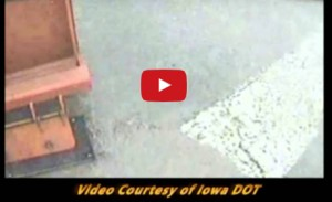 Multiple Blade Plow Prototype - Iowa DOT - Slush Blade Removing Water