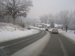 Photo of snowy road from Wilf Nixon's keynote