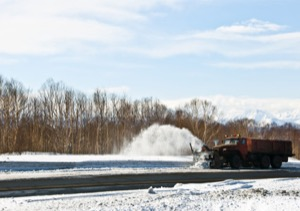 spring-loaded plows